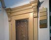 Витраж с фацетными элементами для двери.