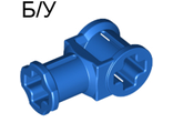! Б/У - Technic, Axle Connector with Axle Hole, Blue (32039 / 3203923 / 4107801) - Б/У
