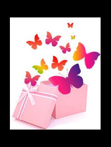 Разноцветный салют из 50 шт. бабочек