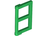 Window 1 x 2 x 3 Pane with Thick Corner Tabs, Green (60608 / 6112266 / 6171061)
