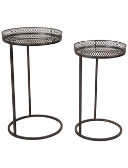 Набор столиков  NEST TABLE SET X2 MIGNO BRONZE D37XH66+D33XH59 IR 29884