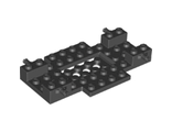 Vehicle, Base 6 x 10 x 1 with 2 x 4 Recessed Center and 2 Holes, Black (65202 / 6285534)