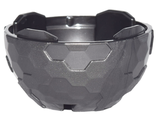 Container, Faceted 4 x 4 x 1 2/3, Alien Pod Section, Pearl Dark Gray (13754 / 6163088)