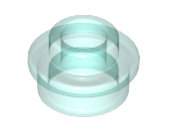Plate, Round 1 x 1 with Open Stud, Trans-Light Blue (85861 / 6173640)