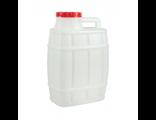 """Канистра 20 литров пластиковая для воды """"Бочонок"""""""