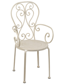 200517 CHAIR VOLUTES IVORY 50.5X47XH91.5CM IRON