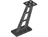 Support 2 x 4 x 5 Stanchion Inclined, 5mm Wide Posts, Pearl Dark Gray (4476b / 6263550)