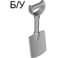 ! Б/У - Duplo Utensil Shovel / Spade with D Handle, Light Bluish Gray (51269 / 4244408 / 6028006) - Б/У