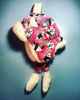 Теплая зимняя шапка-ушанка Reike цвет Pink Panda