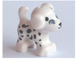 Dog, Friends, Puppy, Standing with Medium Lavender Eyes and Black Nose, Mouth and Spots Pattern ;Cookie;, White (93088pb04 / 6113032)