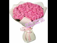 63 розы (розовые розы) букет Вершина Шика