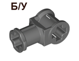 ! Б/У - Technic, Axle Connector with Axle Hole, Dark Bluish Gray (32039 / 4210669 / 6184977) - Б/У