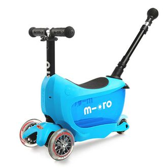 Самокат MICRO Mini 2Go Deluxe Plus голубой