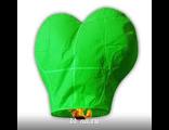 Небесный фонарик сердце  (малый конус) зелёный