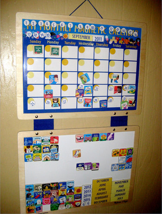 My montly magnetic calendar