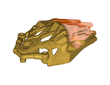 Bionicle Crystal Armor with Marbled Trans-Neon Orange Pattern, Pearl Gold (24166pb03 / 6135121)