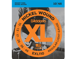 D'Addario EXL110 - струны для электрогитары, Regular Light, никель, 10-46
