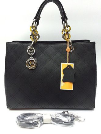 Сумка Michael Kors Cynthia Quilted Black / Чёрная