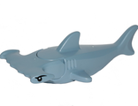 Hammerhead Shark with Gills with Black Eyes and White Pupils Pattern, Sand Blue (14518c03pb01)