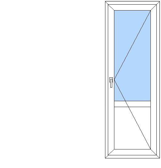 Балконные двери со стеклопакетом - бд 22*7,5 (размер 2175*72.
