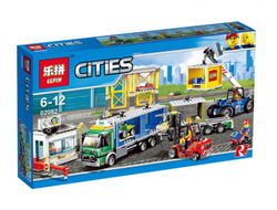 "Конструктор Lepin Cities 02082 ""Грузовой терминал"", 829 дет."