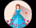 Купить БИЛЕТ НА ВОЛШЕБНЫЙ ЦВЕТОЧНЫЙ БАЛ C ФОТО-СЕССИЕЙ  (для принцесс, королев, волшебниц и фей)