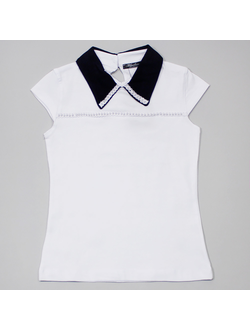 Блузка (бусины) (белый) | арт.31125