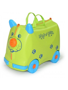 Детский чемодан-тележка на 4 колесах RIDE n ' ROLL / Райд н'  Ролл зелёный (салатовый)