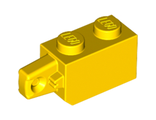 Hinge Brick 1 x 2 Locking with 1 Finger Vertical End, Yellow (30364 / 3036424 / 4220284)