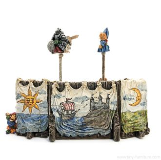 Punch and Judy puppet show (painted)
