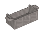 Container, Treasure Chest Bottom - Slots in Back, Flat Silver (4738a / 6125675)