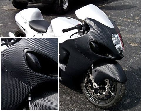Alfa img - showing carbon fiber wrap for motorcycles