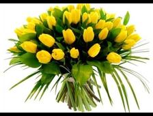 101 желтый Тюльпан букет