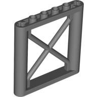 Support 1 x 6 x 5 Girder Rectangular, Dark Bluish Gray (64448 / 4542618)