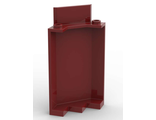 Panel 3 x 3 x 6 Corner Wall without Bottom Indentations, Dark Red (87421 / 6267407)