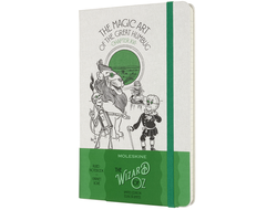 Блокнот Moleskine LIMITED EDITION WIZARD OF OZ Магия, Large (в линейку) белый/зеленый