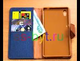 Чехол-книжка iMUCA JEANS для Sony Xperia M4 Aqua / M4 Aqua Dual синий