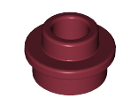 Plate, Round 1 x 1 with Open Stud, Dark Red (85861 / 6073031 / 6168645)
