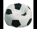 Кресло-мяч бело-черный, Ø100 см, экокожа