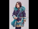Пальто для девочки, био-пух 715306 Билеми