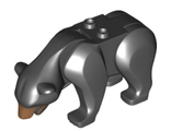 Bear with 2 Studs on Back and Medium Nougat Muzzle Pattern, Black (98295c01pb03 / 6212887)