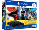 PlayStation 4 Slim (500GB) + Horizon:ZeroDawn + God of War 3 + Uncharted 4: Путь вора