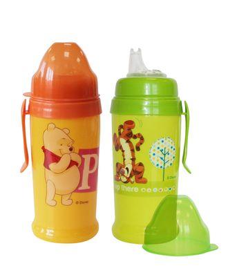 Детский поильник непроливайка Disney Baby Медвежонок Винни с мягким носиком и клипсой 360 мл