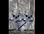 декор бокалов на свадьбу, украсить свадебные бокалы