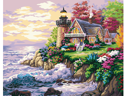 Маленький маяк у дома, худ. Кинкейд Томас