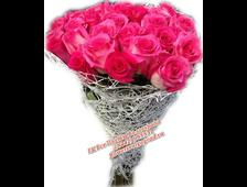 Букет из 25 роз розовых