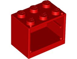 Container, Cupboard 2 x 3 x 2 - Solid Studs, Red (4532a / 453221)