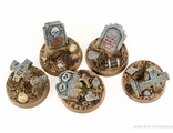 BASES 25MM - VILLAGE CEMETERY (PAINTED)