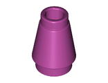 Cone 1 x 1 with Top Groove, Magenta (4589b / 6003007)