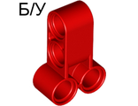 ! Б/У - Technic, Pin Connector Perpendicular Double 3L, Red (32557 / 4158836) - Б/У